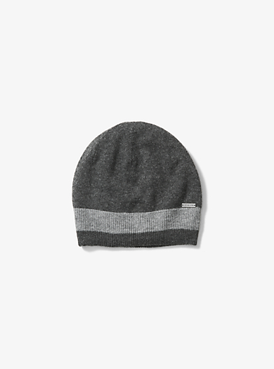 Contrast-Trim Wool Beanie by Michael Kors