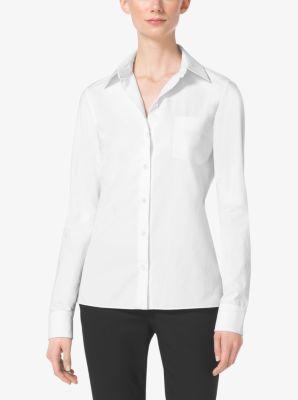 Cotton-Poplin Shirt by Michael Kors