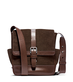 Conor Suede and Leather Large Messenger