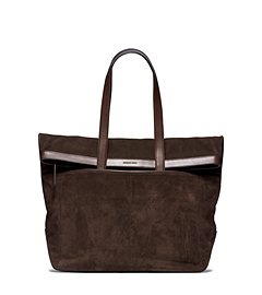 Conor Fold-Over Suede Tote