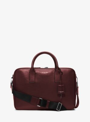 Dylan Medium Leather Briefcase by Michael Kors