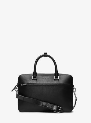 Harrison Small Leather Briefcase by Michael Kors