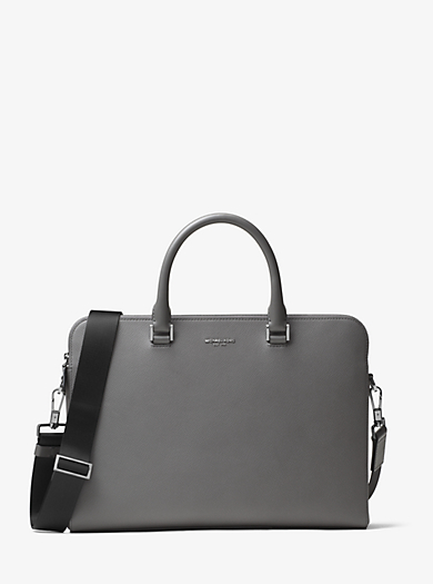 Harrison Leather Briefcase by Michael Kors
