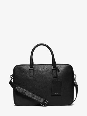 Bryant Medium Pebbled-Leather Briefcase by Michael Kors