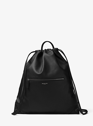 Dylan Leather Drawstring Backpack by Michael Kors