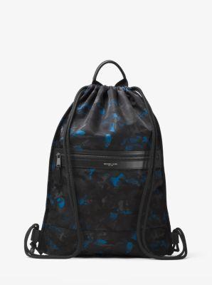 Kent Camouflage Nylon Drawstring Backpack by Michael Kors