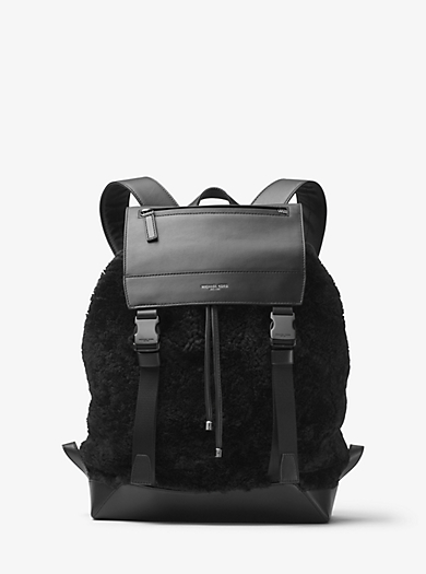 Kirk Alpine Shearling and Leather Backpack by Michael Kors