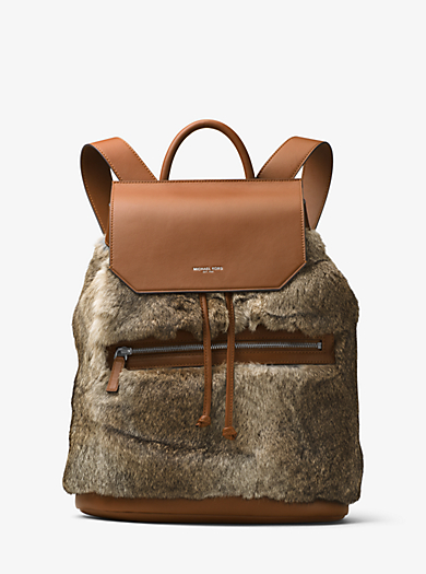 Kirk Fur and Leather Backpack by Michael Kors