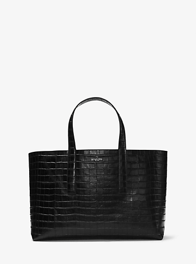 Mason Reversible Embossed-Leather Tote by Michael Kors