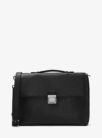 Bryant Large Leather Briefcase by Michael Kors