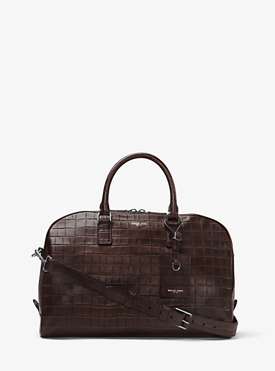 Bryant Medium Embossed-Leather Duffel by Michael Kors