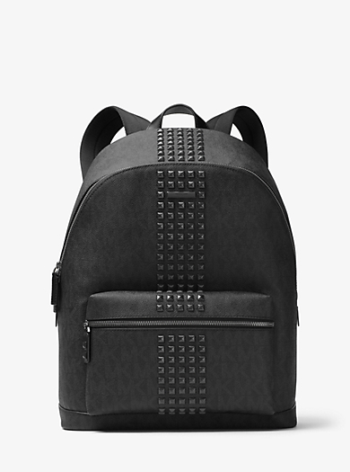 Jet Set Studded Logo Backpack by Michael Kors