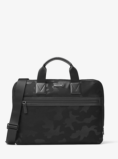 Parker Camouflage Nylon Briefcase by Michael Kors