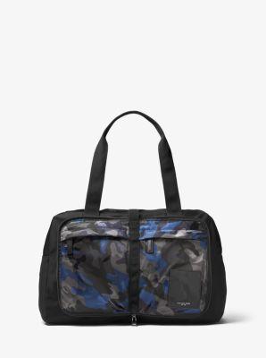 Michael Kors Kent Camouflage Nylon Duffel,INDIGO