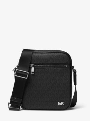 마이클 코어스 로고 메신저백 블랙 Michael Kors Jet Set Logo Flight Bag,BLACK