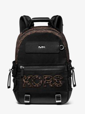 마이클 코어스 백팩 Michael Kors Brooklyn Animal-Print Woven Backpack,HUSK