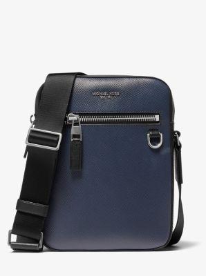마이클 코어스 맨 로고 메신저백 Michael Kors Henry Leather Flight Bag
