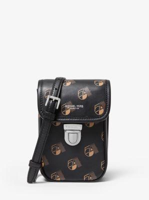 Michael Kors Kennedy Studio 54 Calf Leather Phone Crossbody Bag,SUNTAN