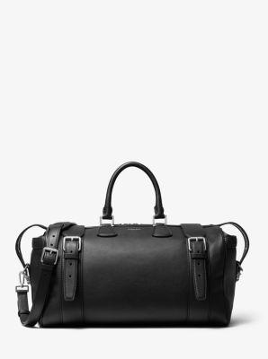 마이클 코어스 맨 더플백 Michael Kors Mens Kennedy Calf Leather Duffel Bag,BLACK