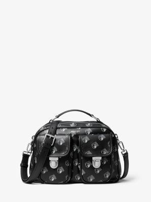 마이클 코어스 맨 카메라백 Michael Kors Kennedy Studio 54 Calf Leather Camera Bag,SLATE