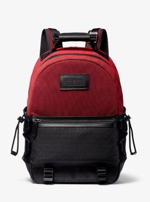 마이클 코어스 Michael Kors KORS X Tech Two-Tone Sport Backpack,RED/BLACK