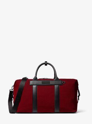 마이클 코어스 Michael Kors KORS X TECH Knit Duffel Bag,RED/BLACK