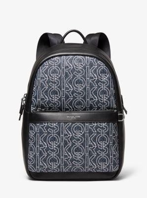 Michael Kors Greyson Color-Block Logo Backpack,ADM/PAL BL/W