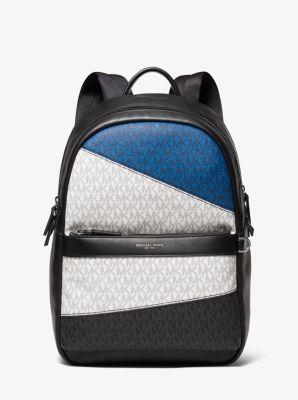 Michael Kors Greyson Graphic Logo Backpack,BLACK/MARINE