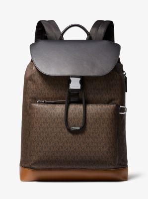 Michael Kors Greyson Logo Field Backpack,BROWN/LUGGAGE