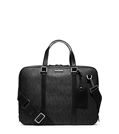 Jet Set Men's Logo Briefcase