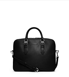 Bryant Pebbled-Leather Briefcase