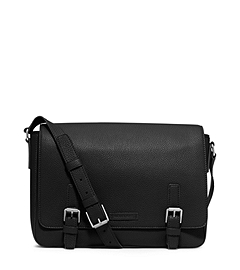 Bryant Pebbled-Leather Messenger