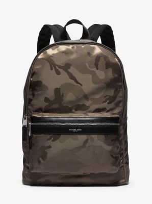 Kent Camouflage Nylon Jacquard Backpack by Michael Kors