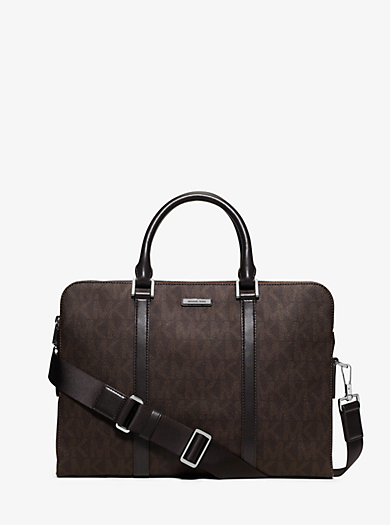 Jet Set Logo Briefcase by Michael Kors