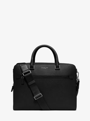 Harrison Medium Leather Briefcase  by Michael Kors