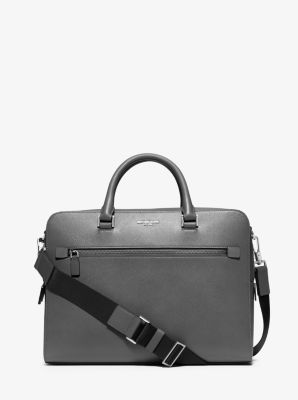 Harrison Medium Leather Briefcase  by Michael Kors