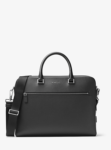 Harrison Large Leather Briefcase  by Michael Kors