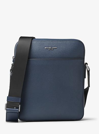 Harrison Medium Leather Flight Bag  by Michael Kors