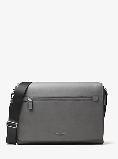Borsa messenger Harrison in pelle grande by Michael Kors
