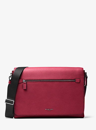 Harrison Large Leather Messenger by Michael Kors