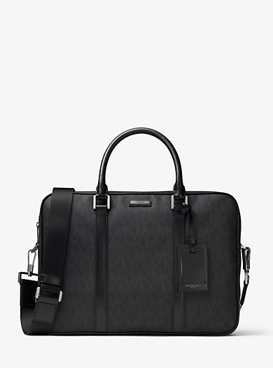 Jet Set Large Logo Briefcase by Michael Kors