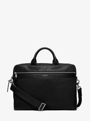 Grant Medium Leather Briefcase  by Michael Kors