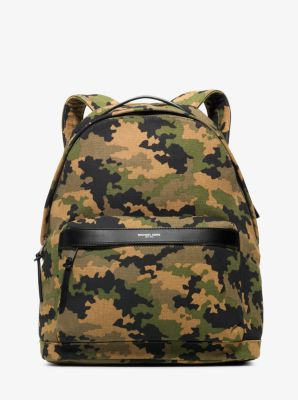 Grant Camouflage Bonded-Canvas Backpack  by Michael Kors