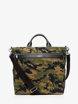 Grant Camouflage Bonded-Canvas Tote  by Michael Kors
