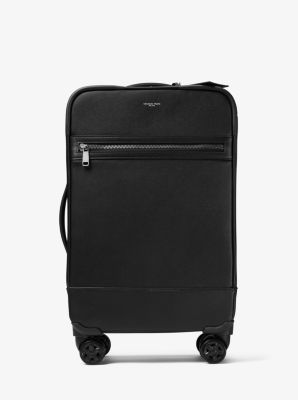 마이클 코어스 해리슨 캐리어 Michael Kors Harrison Cross-Grain Leather Suitcase,BLACK