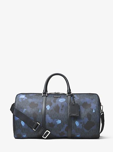 Jet Set Painterly Camo Large Duffel Bag by Michael Kors
