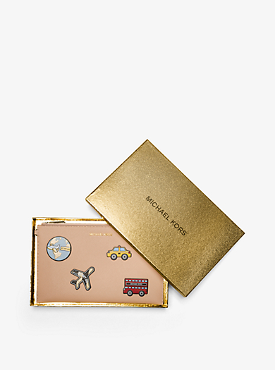 Clutch Jet Set Travel Extra-Large aus Leder mit Verzierungen by Michael Kors