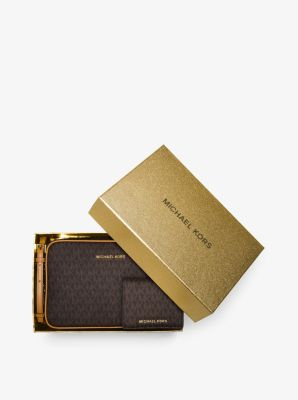 Jet Set Travel Logo Crossbody and Card Holder Set by Michael Kors