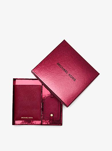 Jet Set Travel Saffiano Leather Set by Michael Kors