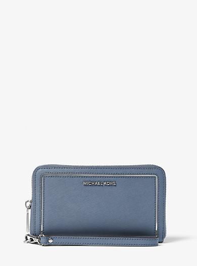 Jet Set Travel Large Leather Phone Case by Michael Kors